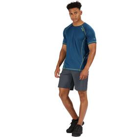 Regatta Virda II T-paita Miehet, lime punch/majolica blue